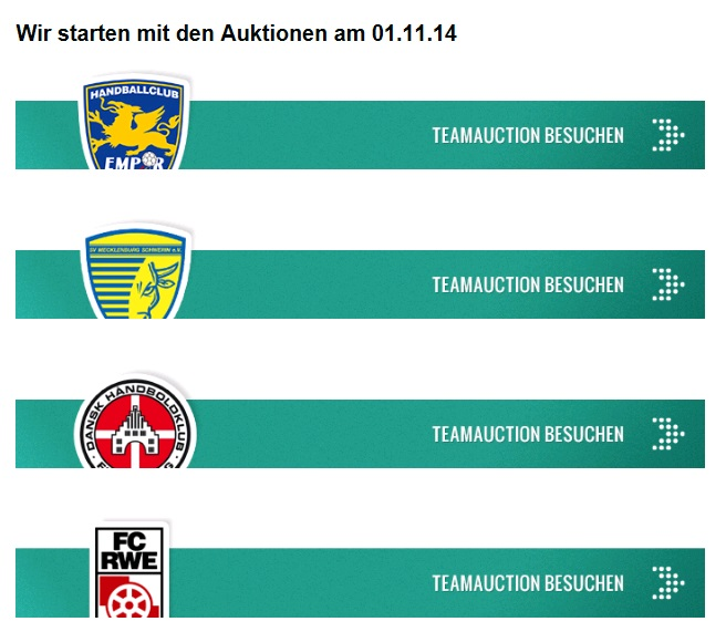 Teamauction Auktionen in